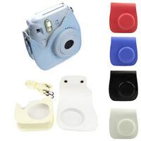 For Fuji Fujifilm Instax Mini8 Camera Shoulder Strap Bag Faux Leather Case Pouch