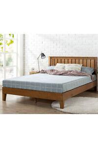 "Zinus Alexis Vivek 12"" Deluxe TWIN Wood Platform Bed with Headboard, Rustic Pine"