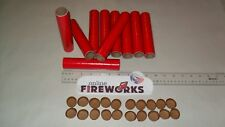 10 Red replica Dynamite 1 x 6 x 1/8 inch Paper Fireworks Tubes + 20 Free Plugs