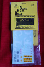 hi scale FCL/Linfox 40ft waffle sided container decals