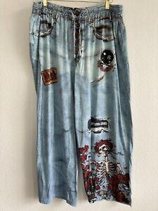 Grateful Dead 2006 Men's XL Pajama Lounge Pants Jeans 3/23/1994 Tickets HOLE