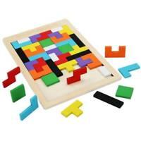 Bunte Holzhäuser Tangram Denksportaufgabe Puzzle Spielzeug Tetris Kinderspiel DE