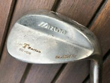 NICE MIZUNO MP T SERIES 53 DEGREE BLACK NI GAP WEDGE. STIFF STEEL