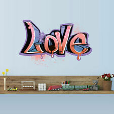 Full Color Wall Decal Sticker Kids Graffiti Words Quote Sign Love (Col699)