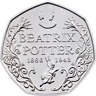 2016 Fifty Pence 150th Anniversary BEATRIX POTTER RARE 50p UNCIRCULATED COIN