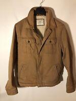 Vintage Old Navy Men's L Sherpa Lined Trucker Jacket 100% Cotton Canvas Tab-MINT