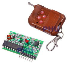 4 Channel 315MHz RF Wireless Remote Control & Receiver Module SC2272 Arduino