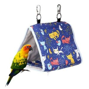 Bird Warm Snuggle Hut Parrot Habitat Cave Hanging Tent Hammock SleepingBed UK