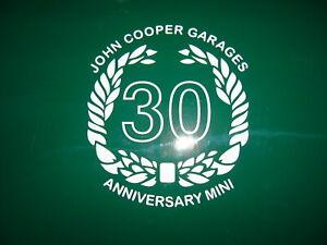 Classic Mini Graphics 30 Anniversary Laurel made in Cheshire FREE P+P UK