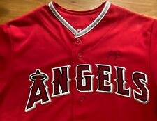 Mike Trout autographed  baseball jersey MLB majestic red size L Angels
