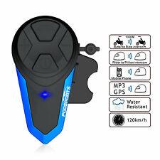 Fodsports 1000m BT-S3 Motorcycle Intercom Headset Bluetooth Helmet Walkie Talkie