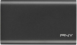PNY Elite 240GB External USB 3.0 SSD Portable Solid State Drive Aluminum