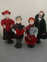 """Victorian Christmas Carolers Family Figurines Set of 4 13"""" - 15"""""""