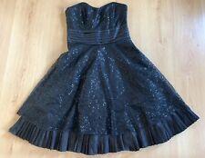 Next Ladies Dress 10 Strapless Sequin Party Evening Cruise Ballgown Black