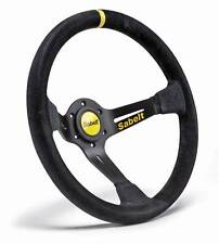 Sabelt SW-390 Rally/Race Steering Wheel, 3 Spoke Deep Dish, Black Suede 350mm
