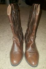 kids youth  cowboy boots NORDSTROM 3 pull on brown
