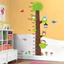 Kids Room Height Measure Wall Stickers Lovely Monkey Owl Bird Tree  -/