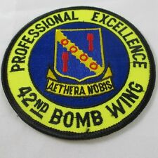 "42d Bombardment Wing Professional Excellence Award Repro 4"" Patch Loring Maine"