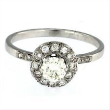 Anello Solitario Donna Oro Bianco 18kt cod 0167 Peso 2.70 gr Diamanti 0.53 ct