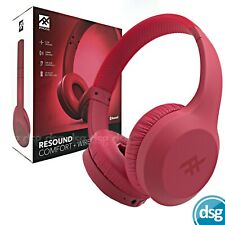 iFrogz Wireless Bluetooth On-Ear Headphones with Built-In Microphone - Red