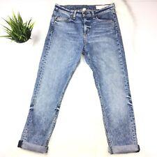 Rag & Bone Jeans 10 Inch Dre Jeans Crop Size 26 Acid Blue Frayed Distressed
