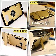 SAMSUNG Galaxy s7 standard robusto Armour TECH 2 sopravvivenza CASE Rock Cover Oro