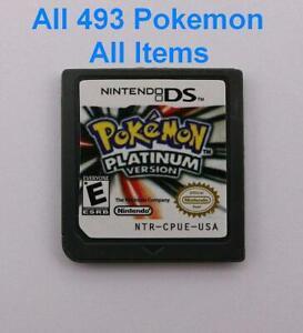 Pokemon Platinum Unlocked Nintendo DS Full Pokedex 493 Shiny 6IV Lv100 + Items