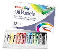 Pentel Artists Oil Pastels - 12 Set