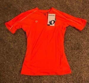 Pearl iZumi Neon Screaming Orange Jersey Biking Shirt M NWT