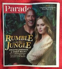 PARADE MAGAZINE JULY AUGUST 2021 RUMBLE IN THE JUNGLE DWAYNE JOHNSON EMILY BLUNT