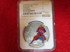 2016 Niue 1oz  Antiqued .999 Silver Warriors of History Samurai coin NGC PF70