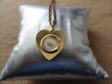Vintage Swiss Made Lucerne 17 Jewels Incabloc Wind Up Necklace Pendant Watch