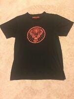 Jagermeister Black&Orange Logo Short Sleeve T-Shirt Men's Size Large