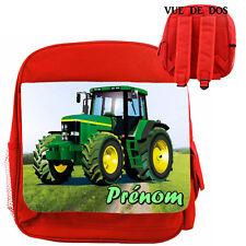 sac à dos luxe robuste enfant tracteur personnalisé  prenom réf 21