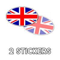 Union Jack Flag Oval Sticker decal London England UK Britain British 3x5 2 Pack