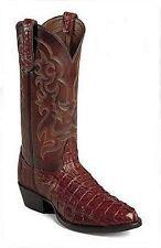 Nocona 1042142403 Mens Hornback Caiman Tail Western Boots (Cognac) 11.5D