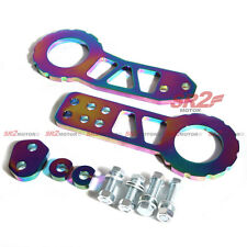 JDM Anodized Billet Aluminum Neo Chrome Titanium Front Rear Tow Hook fits Honda