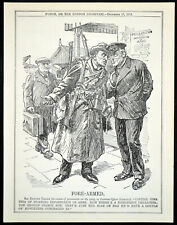 FORE-ARMED 1913 John Bernard Partridge - Sir Edward Carson PUNCH CARTOON PRINT