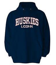 (Mens LARGE) Old Varsity NCAA UCONN Connecticut Huskies Hoodie Sweatshirt Jacket