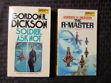 1975 SOLDIER ASK NOT 1st VG+ & R-MASTER 1st FN+ Gordon R Dickson Paperback LOT