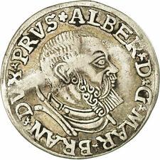 [#850578] Coin, German States, PRUSSIA, 3 Gröscher, 1537, VF(30-35), Silver