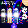 Solar LED Lantern Rechargeable Camping Flashlight Torch Lamp w/ Colorful Light