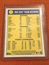 2019 Topps Heritage Base #1 Boston Red Sox - World Series Champion