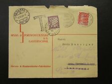 Switzerland 1935 Cover to Paris w/ 50c French Postage Due - Z6757