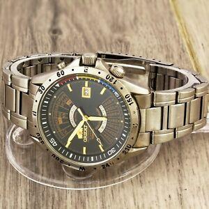 Orient 100 m NEW Multi-Year Calendar automatic men's wristwatch caliber 46D40
