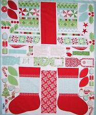 "Christmas Fabric Panel - In From The Cold Homemade Stocking 34"" - Moda Cotton"