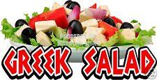 Greek Salad Decal 14 Concession Cart Restaurant Food Truck Vinyl Menu Sticker