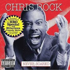CHRIS ROCK-NEVER SCARED Double CD-Explicit Content-Funny Stuff-Never Played