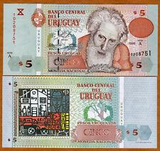 Uruguay, 5 Pesos Uruguayos, 1998, P-80, A-Serie, UNC