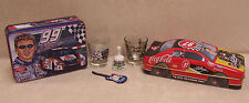 Huge Lot NASCAR Racing Car Collectable Tin Metal Containers Shot Glasses Coke